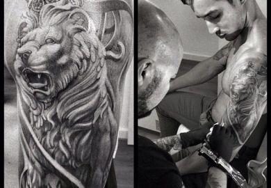 Ideas About Tribal Lion Tattoo On Pinterest Lion