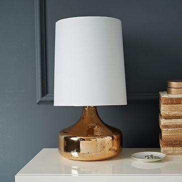 Perch Table Lamp - Rose Gold #westelm