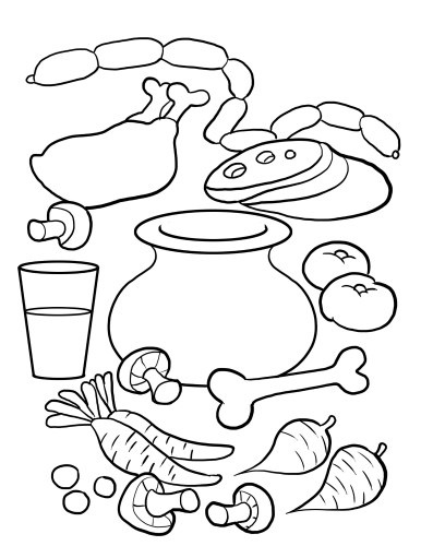 Soup Printable Coloring Pages