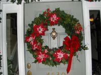 front door wreath | CHRISTMAS | Pinterest