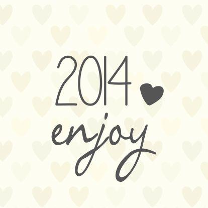Nieuwjaarskaarten - enjoy 2014