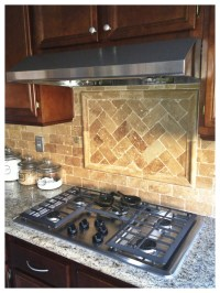 Herringbone tile backsplash | Tile. For back splash ...