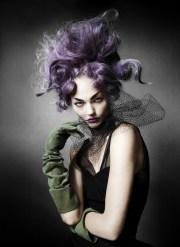 purple avant garde hair