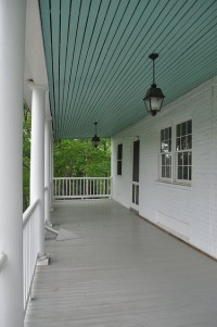 I want a haint blue porch ceiling.
