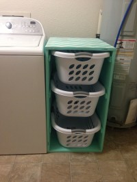 DIY laundry sorter with chevron pattern. | Organization ...