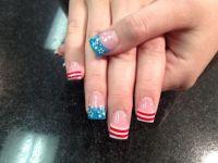 patriotic acrylic nails - Google Search | Nails | Pinterest