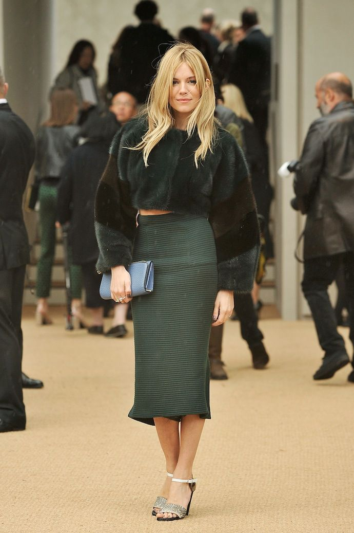 Sienna Miller - Burberry Prorsum - Arrivals: London Fashion Week SS14