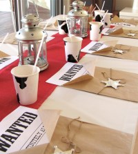 Western themed table setting | Church Stuff | Pinterest