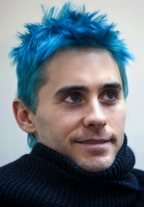Photo 48 51 Men39s Hairstyles Of Electric Blue Hair Color