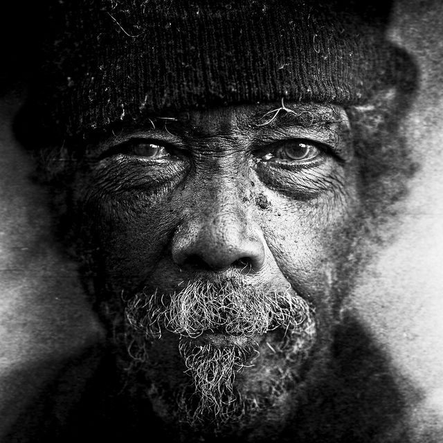Lee Jeffrie's photo's of the homeless are a thing of beauty.