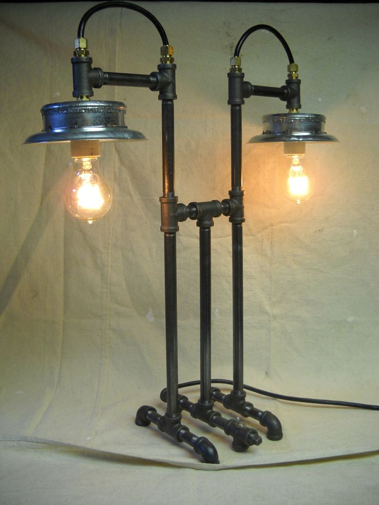 Industrial Style Iron Pipe Desk Lamp