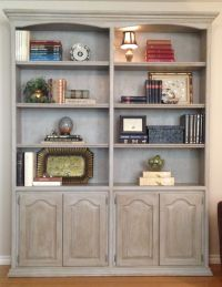Chalk Painted Bookcases Type | yvotube.com