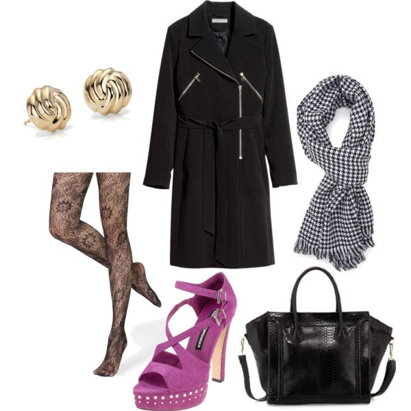 A fashion look from November 2014 featuring h&m coats, lace hosiery and rope jewelry. Browse and shop related looks.