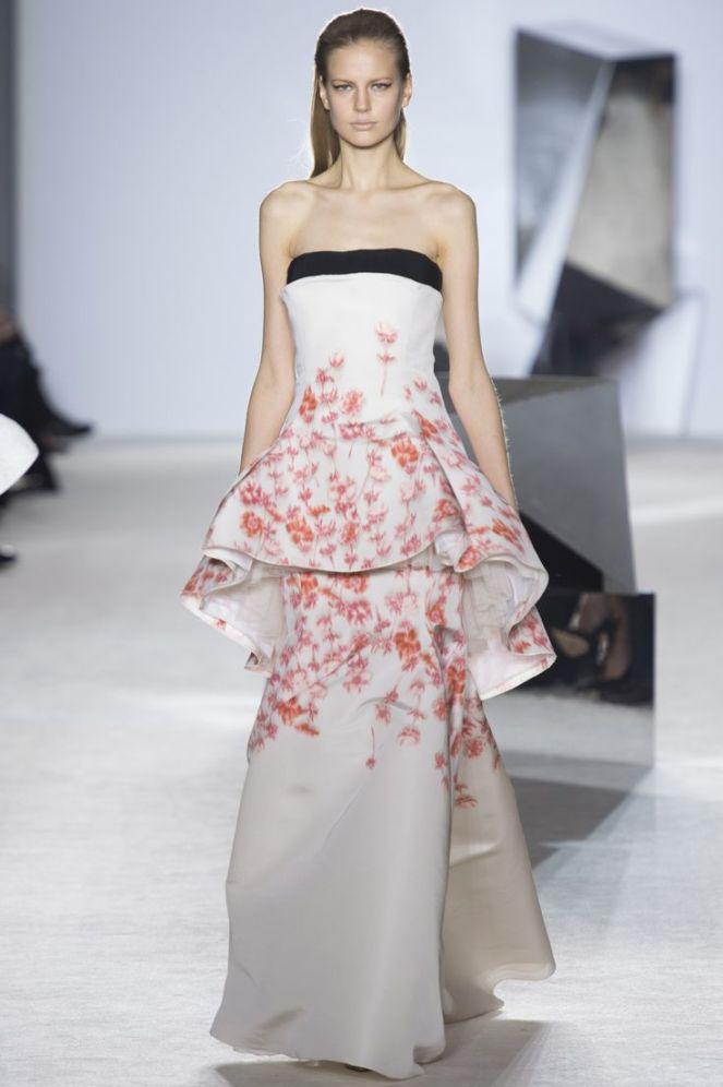 Giambattista Valli Spring 2014 Haute Couture, peplum dress, floral dress