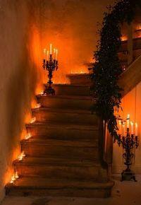 staircase decorations   Halloween   Pinterest