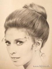 1950s updo 60's hairstyles