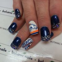 Broncos Nails | Denver Broncos Nails | Pinterest