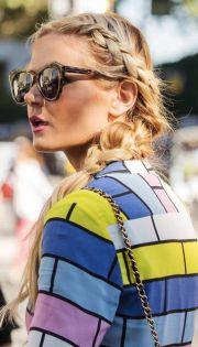 blonde german braid hair style
