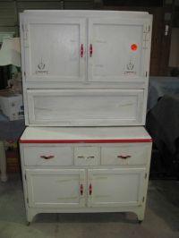Sellers Red & White Hoosier Cabinet