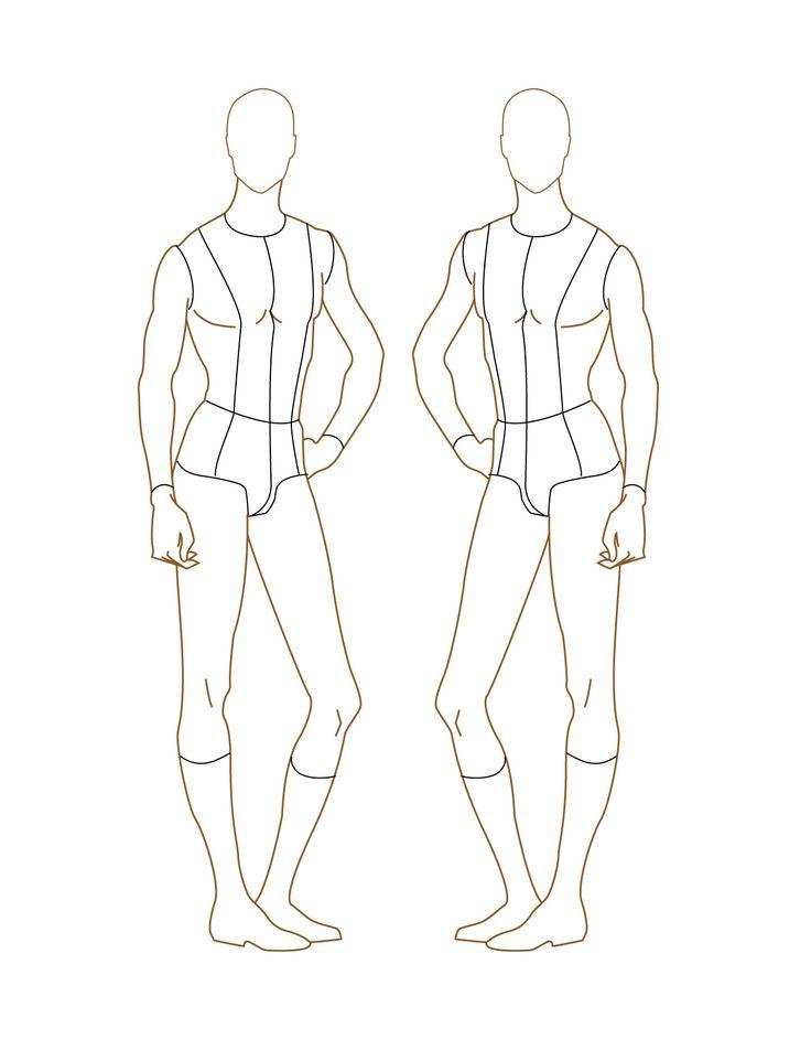 For Plus size fashion croquis templates