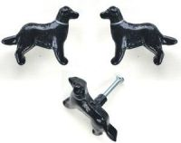 Black Lab Dog Cabinet Drawer Knobs Pulls - Animal Knobs ...
