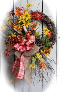 ON SALE Country Wildflower Wreath Front Door by ...