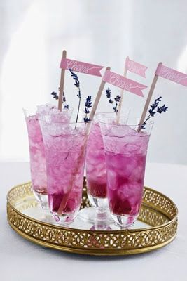 Cute Cocktails #pantone #radiantorchid #wedding #bbjlinen #bbjtablefashions