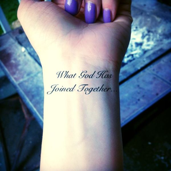 husband and wife tattoo. quotes