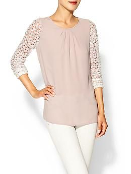 Sabine Naomi Lace Sleeve Top | Piperlime