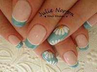 Daisy nail art | * French Manicure Nail Art Design Ideas ...