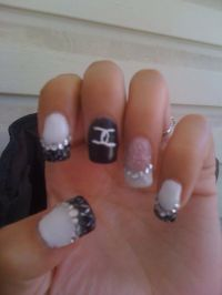 #nails #chanel #gel nails #gems #design | Nails! | Pinterest