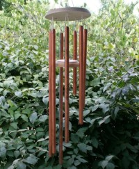 Homemade copper wind chimes