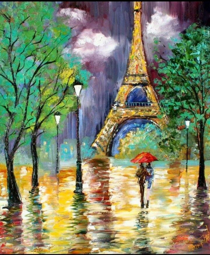 Paris Rain Art