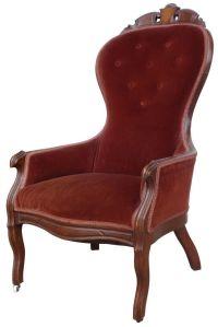 Victorian High Back Chair | Victorian Burgandy | Pinterest