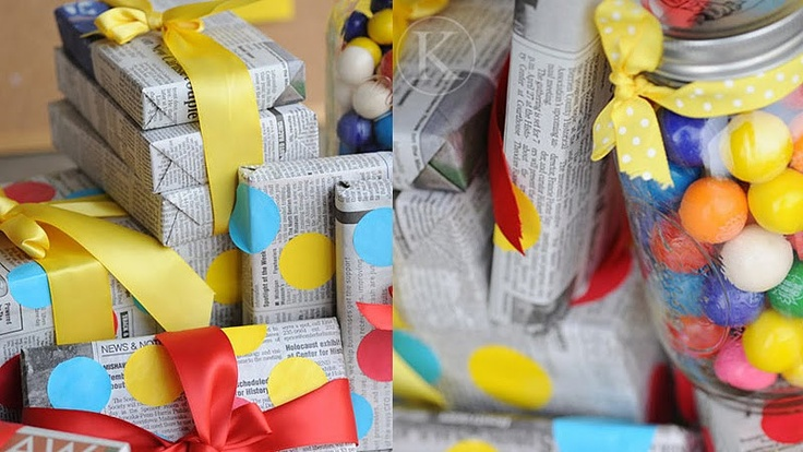 recycle giftwrap