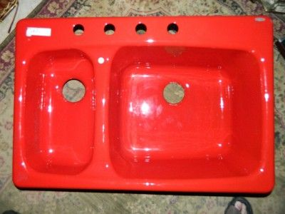 Red Kitchen Sink New Kohler Chili Pepper Cast Iron