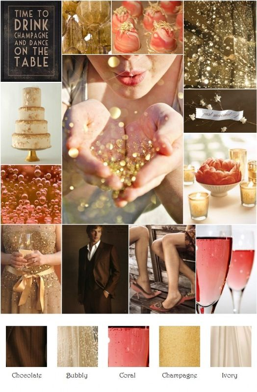 Coral and champagne wedding  Wedding inspiration  Pinterest