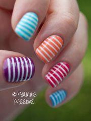 stripe pedicure idea. pedicures