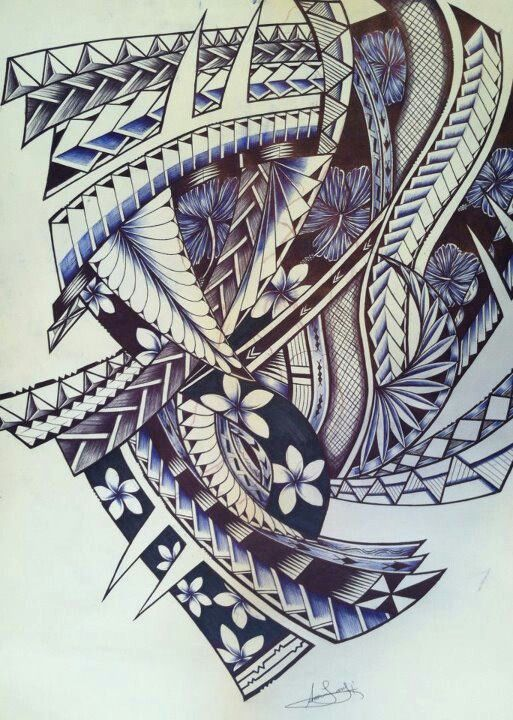 Top Samoan Tapa Designs Images For Pinterest Tattoos