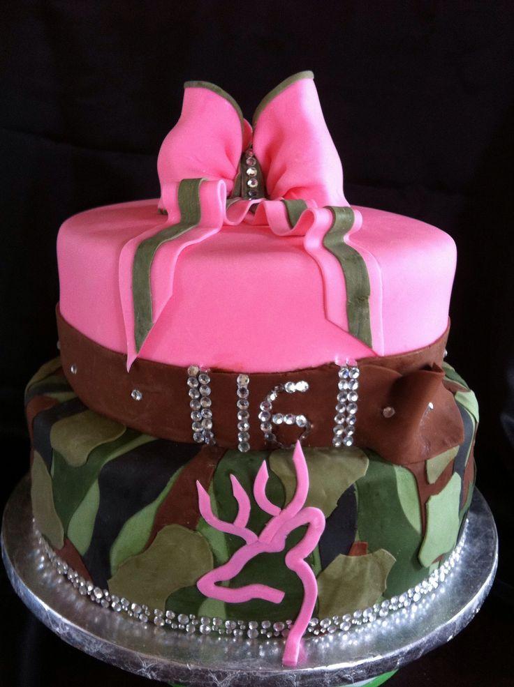 Camo Baby Girl Shower Cake Designs