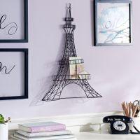 Wire Eiffel Tower Wall Decor | Alexandra's Room | Pinterest