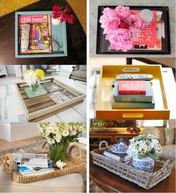 Coffee table tray ideas