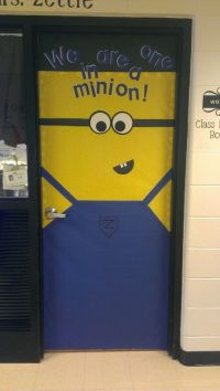 Minion classroom door! | Library Ideas | Pinterest