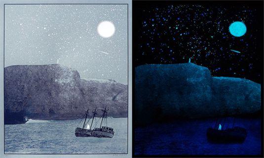 Bottleneck Gallery's Glow-in-the-dark poster exhibition