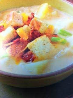 Easy crockpot recipes: Cream of Potato & Cheddar Soup Crockpot Recipe