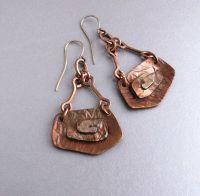 Copper earrings, copper jewelry, handmade copper earrings ...