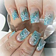 winter acrylic nails