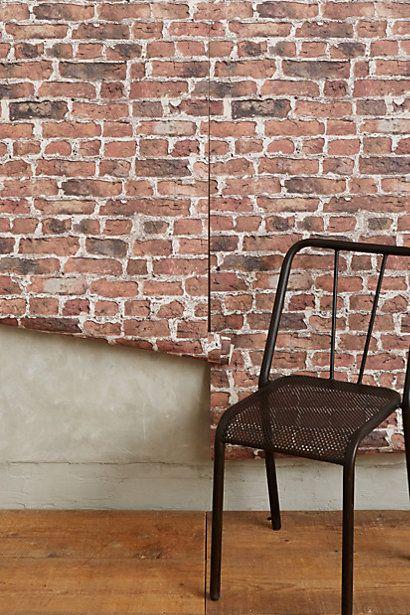 Brick-By-Brick Wallpaper - anthropologie.com #anthrofave