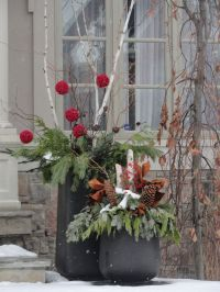 Outdoor Planters for Fall/Winter | Christmas Ideas | Pinterest