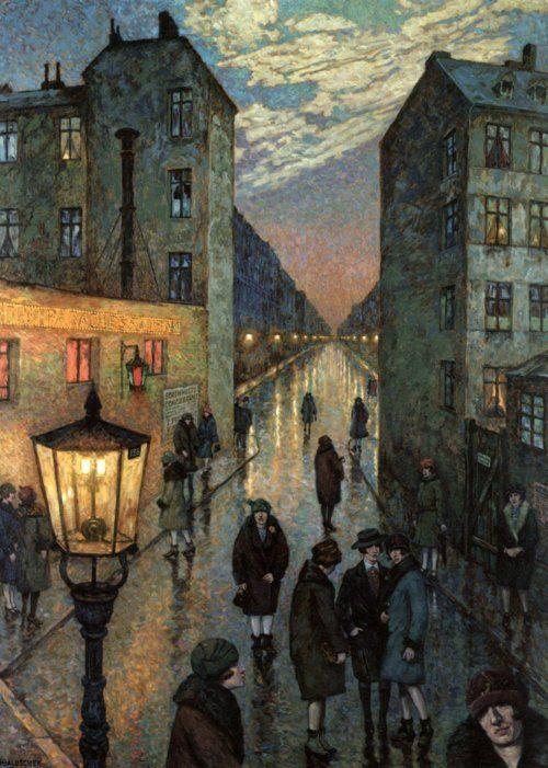Hans Baluschek:  Großstadtwinkel (Der Dirnenwinkel) 1929